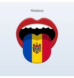 Moldova language abstract human tongue vector