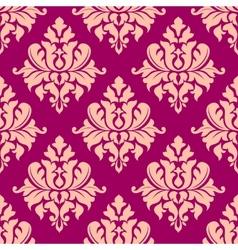 Beige damask seamless pattern vector image