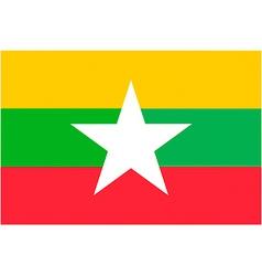 burmese flag vector image