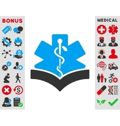 Medical knowledge icon vector