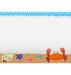 Border design with sea animals vector image