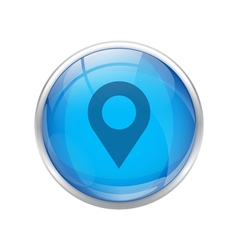 Blue location icon vector
