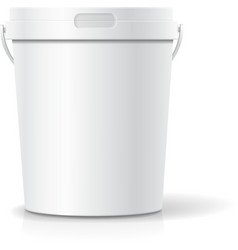 White food plastic tub bucket container with vector
