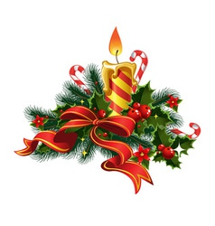 Christmas candle light vector