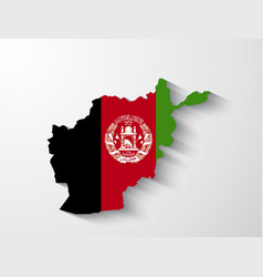 Afghanistan map with shadow effect vector image