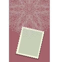 Beautiful vintage greeting card vector image vector image