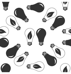 Bulb icon pattern vector image vector image
