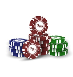 Casino chips isolated on white background vector image