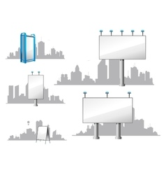 City Billboards and Skylines vector image vector image