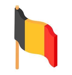 flag belgium icon isometric 3d style vector image