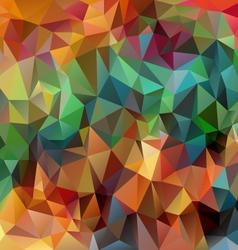 Full color spring polygonal triangular pattern vector