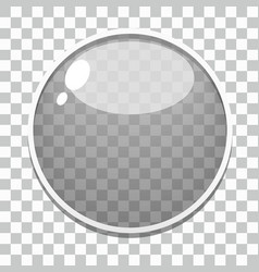 Glass button template vector image