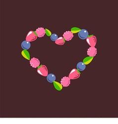 Heart consists of berries vector