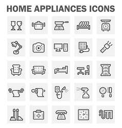 home appliance icon vector image
