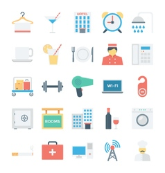 Hotel and services colored icons 2 vector