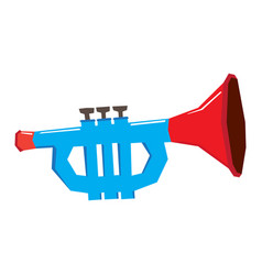 isolated geometric trumpet toy vector image vector image