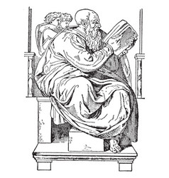 Michelangelo greatest artists of all time vintage vector