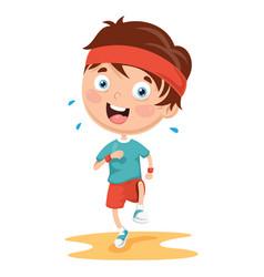 of athlete kid vector image