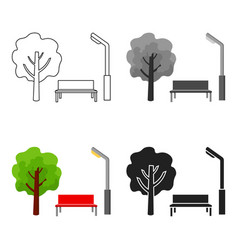Park icon in cartoon style isolated on white vector
