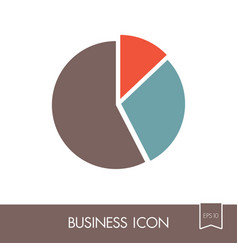 Pie chart icon finances sign vector