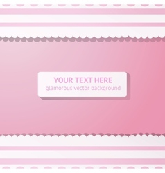 Pink background with vintage white lace vector image