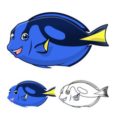 Regal tang fish vector