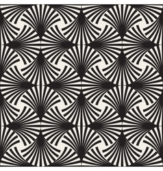 Seamless black and white arc lines grid vector