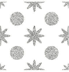 seamless pattern with silver glitter textured vector image vector image