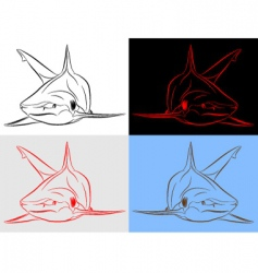 shark set vector image vector image