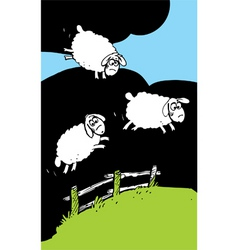 sheep fly vector image