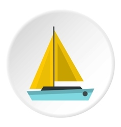 Small boat icon flat style vector image