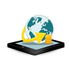 smartphone global optimization data center vector image