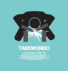 Taekwondo asian sport symbol vector