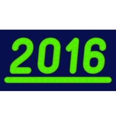 The inscription 2016 made of green lights vector image vector image