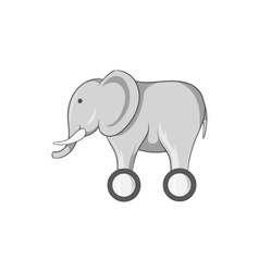 Toy elephant on wheels icon vector image vector image