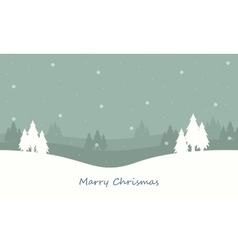 Winter spruce on the hill landscape christmas vector