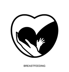Breastfeeding logo isolated vector