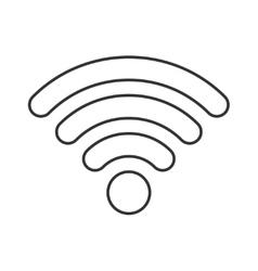 Wireless thin line icon vector