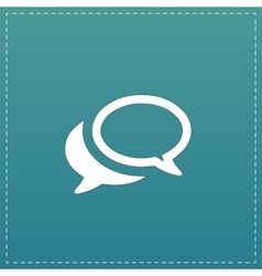Chat or dialogue icon vector