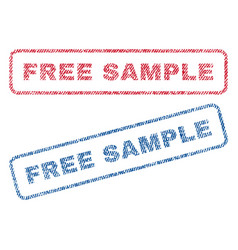 Free sample textile stamps vector