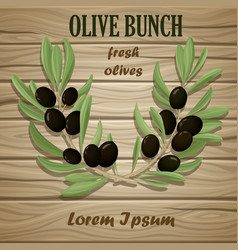 Black olive oil natural template vector