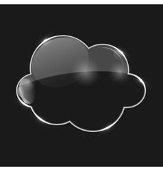 Glass Cloud Icon vector image