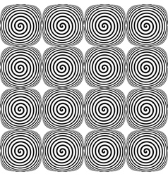 Design seamless monochrome twirl pattern vector