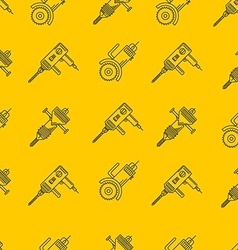 Yellow background for construction tools vector