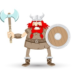 Cartoon viking design elements vector