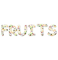 word fruits vector image