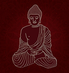 Hand drawn Buddha vector image