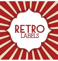 Retro label design vector