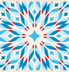 Floor tile - fantastic flower in blue and red vector
