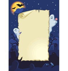 Empty halloween card vector